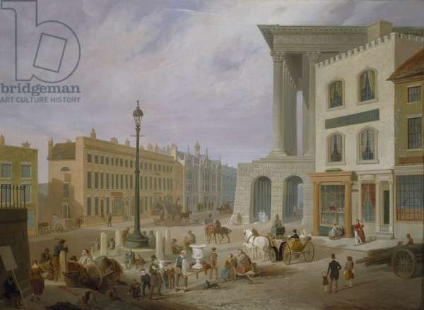 Birmingham Town Hall and Queen's College (oil on canvas)