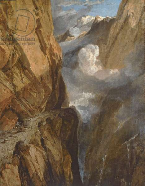 The Pass of Saint Gotthard, Switzerland, 1803-04 (oil on canvas)
