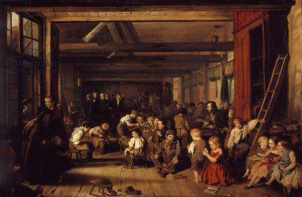 The First Ragged School, Westminster, 1851 (oil on canvas)