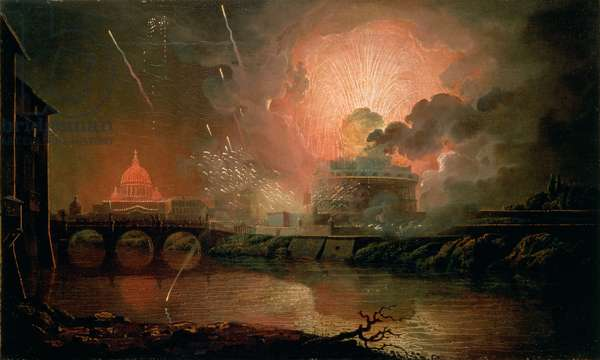 Firework Display at the Castel Sant Angelo, 1774-1778 (oil on canvas)