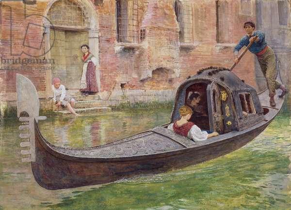 The Gondola, 1868 (w/c on paper)
