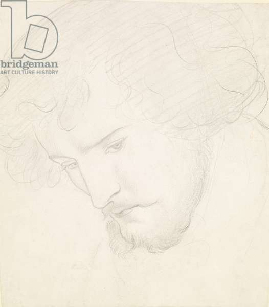 The Seed of David - Study for David, 1859-1862 (pencil on paper)