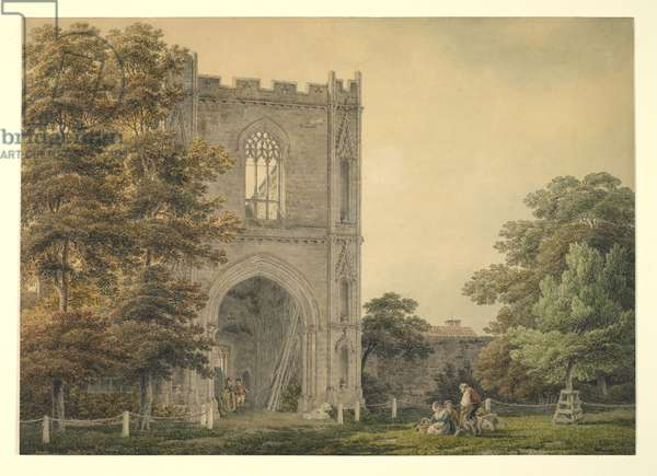 Ruined Gateway at the Abbey, Bury St Edmunds, 1788-1801 (w/c over pencil on paper)