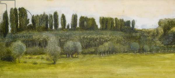 Landscape with Willows and Poplars, Study  (w/c)