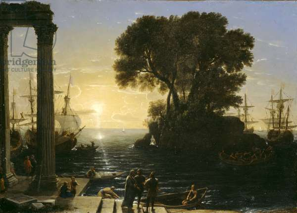 Coastal Scene with the Embarkation of Saint Paul, 1655 (oil on copper)