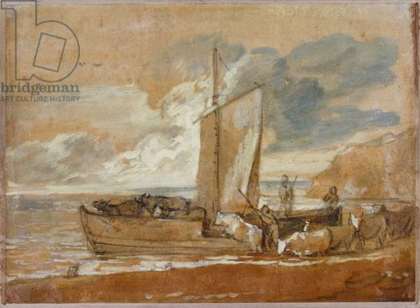 A Cattle Ferry, 1784-1788 (w/c on paper)