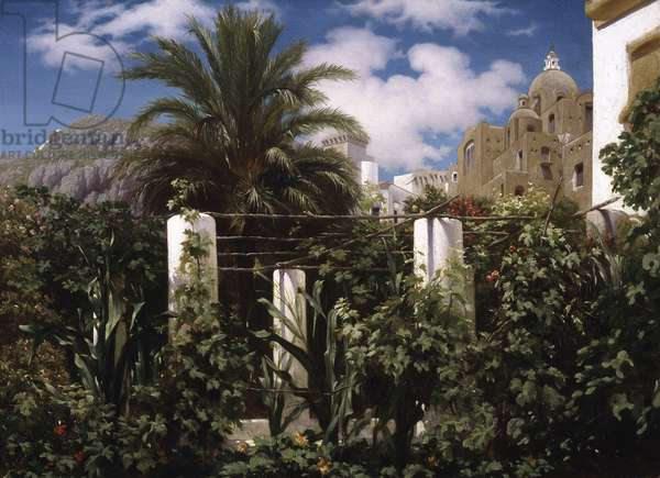 Garden of an Inn, Capri, c.1859 (oil on canvas)