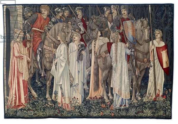 The Arming and Departure of the Knights, tapestry designed by the artist and woven by Morris & Co., 1895-96 (textile)