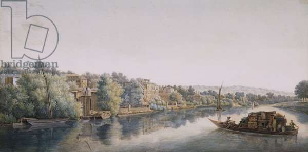 The Thames At Richmond, 1770-1780 (w/c on paper)