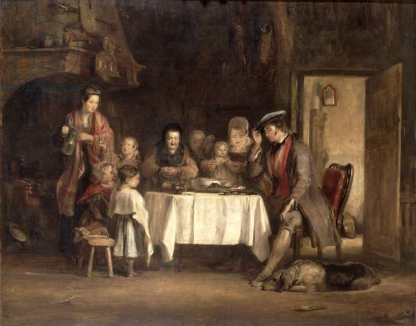 Grace Before Meat, 1839 (oil on canvas)