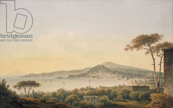 Naples From Sir William Hamilton's Villa, 1780-1782 (pencil and w/c on paper)