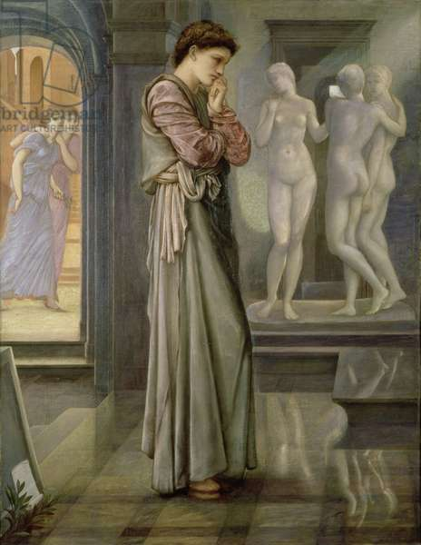 Pygmalion and the Image: The Heart Desires, 1868 (oil on canvas)
