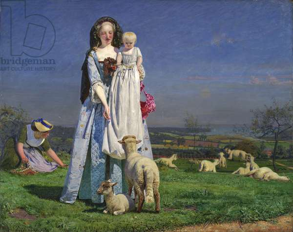 The Pretty Baa-Lambs, 1851-59 (oil on panel)