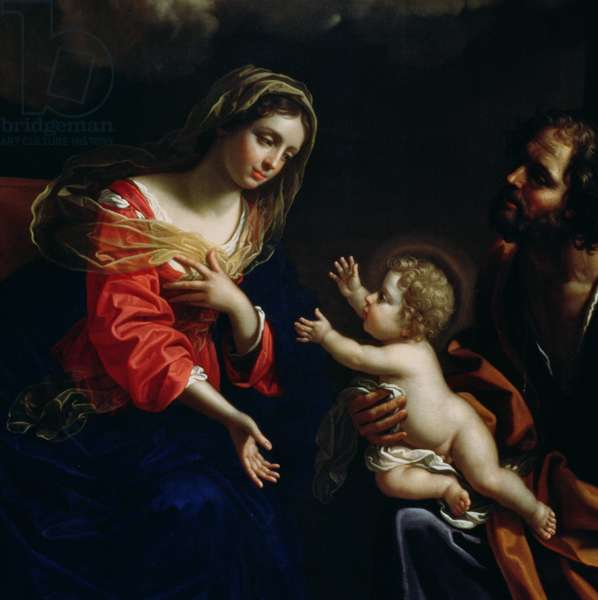 The Holy Family, detail, 1682 (oil on canvas)