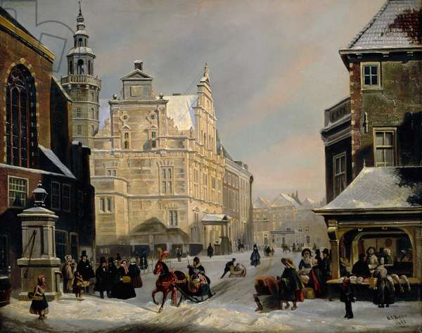 Town Hall, The Hague, 1853 (oil on panel)