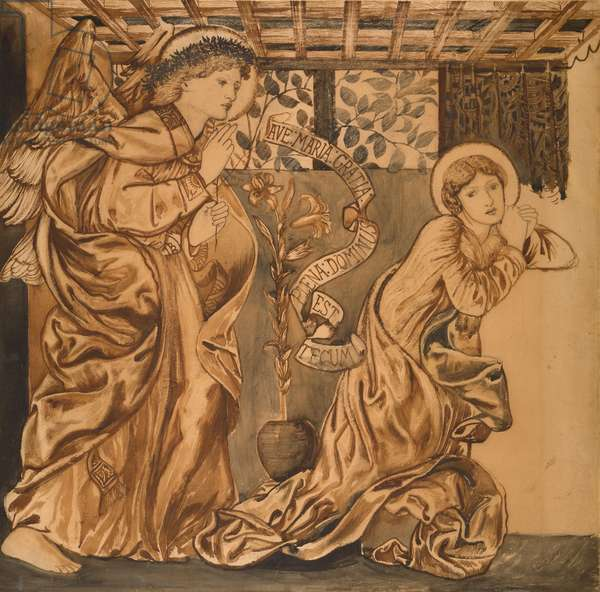 The Annunciation (w/c on paper)
