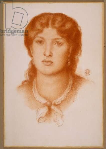 Portrait of Fanny Cornforth, 1868 (red chalk on paper)