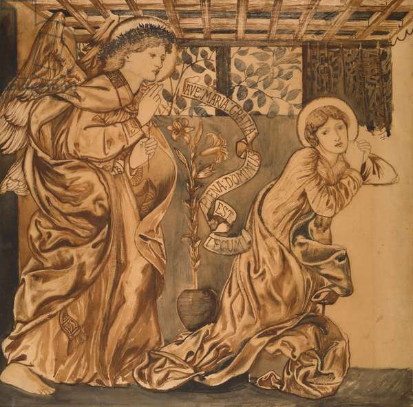 The Annunciation, c.1862 (w/c on paper)
