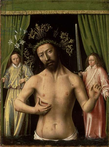 Christ as the Man of Sorrows, 1450 (oil on panel)