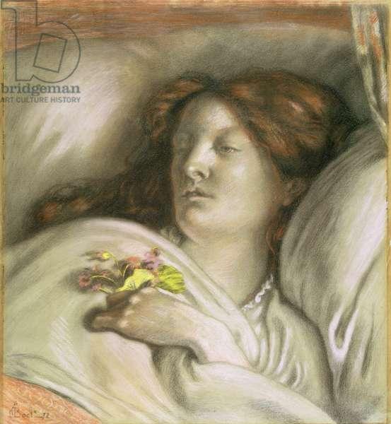 Convalescent (Emma) 1872 (coloured chalks on paper)