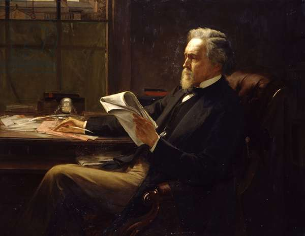 Portrait of George Jacob Holyoake (1817-1906) (oil on canvas)