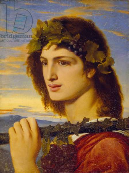 Bacchus, 1867 (oil on paper laid down on canvas)