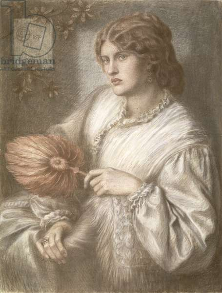 Woman with a Fan, 1870 (pastel)