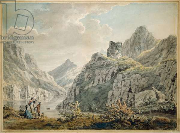 Dolbardarn Castle and Llanberris Lake, 1764 (w/c on paper)