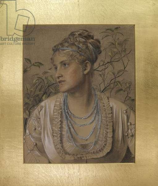 Mary Sandys (1845-1920), c.1871-73 (coloured chalks on buff paper)