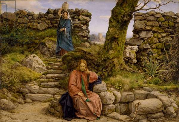 The Woman of Samaria, 1860 (oil on panel)