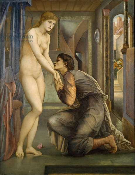 Pygmalion and the Image - The Soul Attains, 1878 (oil on canvas)