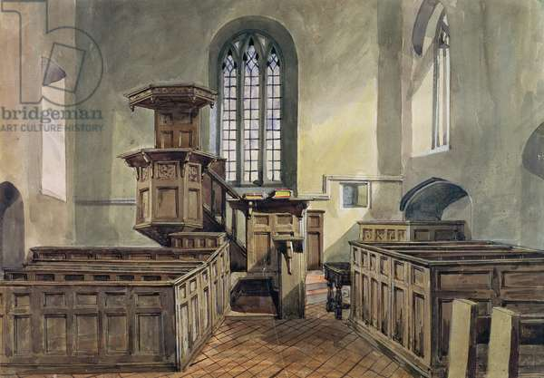 St. Kenelm's Church, Clent (w/c on paper)