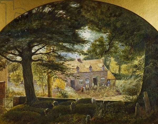 Looking from Northfield Churchyard, 1874 (w/c, gouache & gum on paper)