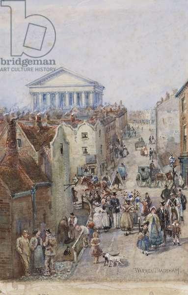 Hill Street, 1850 (w/c on paper)