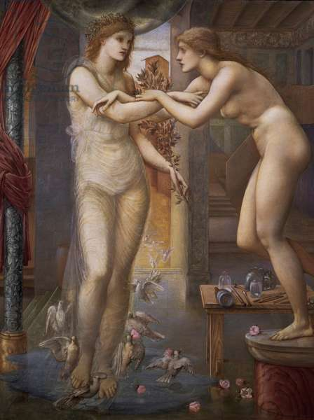 Pygmalion and the Image: The Godhead Fires, 1868-78 (oil on canvas)
