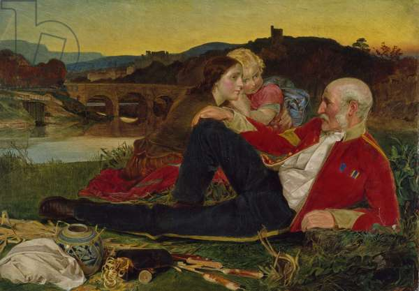 Autumn, c.1860-62 (oil on panel)