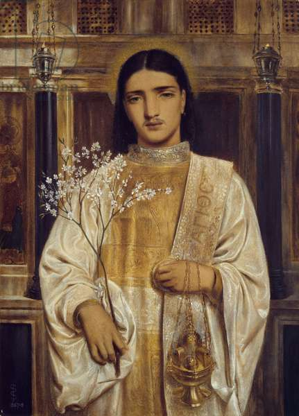 A Saint of the Eastern Church (formerly called A Greek Acolyte), 1867-68 (w/c on paper)