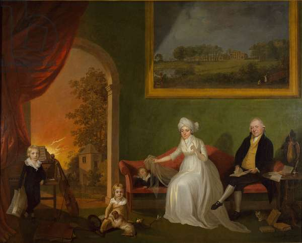 Portrait of Robert Mynors (1739-1806) and his Family, 1797 (oil on canvas)