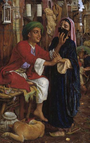 The Lantern Maker's Courtship, A Street Scene in Cairo, 1861 (oil on canvas)