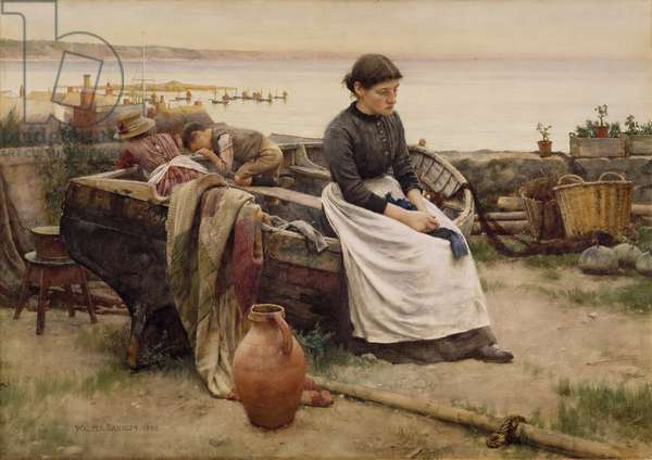 """""""But oh for the Touch of a Vanished Hand"""", 1888 (w/c on paper)"""