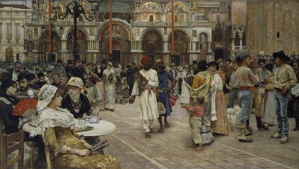 The Piazza di San Marco, Venice, 1883 (oil on canvas)