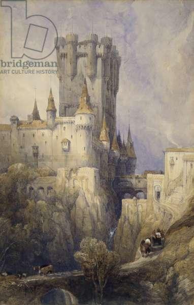 Alcazar, Segovia, Spain, 1836 (w/c, pencil & gouache on paper)