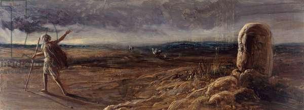 Jacob At Bethal, 1840-1880 (oil on panel)