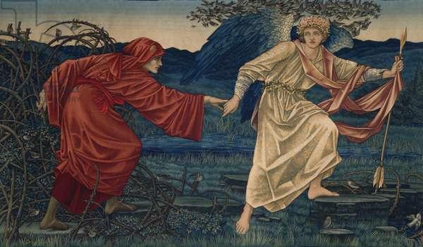 Love leading the Pilgrim, Tapestry, 1909 (textile)