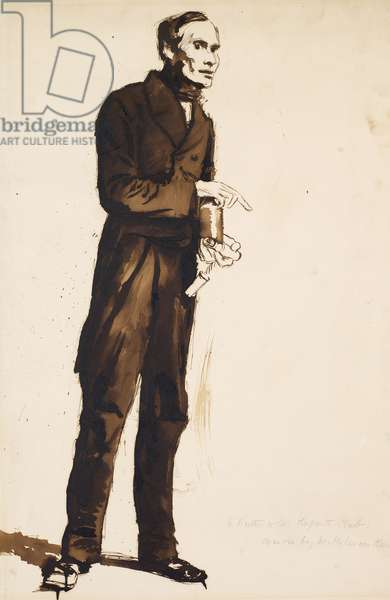 A Porter to the Hogarth Club, 1858 (pen & brown ink with ink wash on paper)