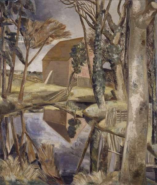 Oxenbridge Pond, 1927-28 (oil on canvas)