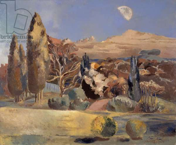 Landscape of the Moon's First Quarter, 1943 (oil on canvas)