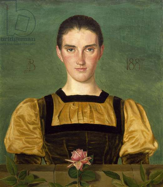 Portrait of Anna Elizabeth Baker (1859-1947), 1887 (tempera on panel)
