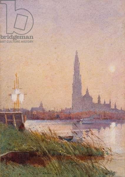 River Scene, 1887 (w/c on paper)