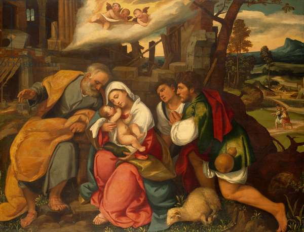 The Adoration of the Shepherds, 1540 (oil on panel)